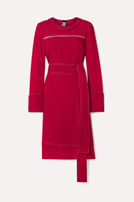 Marni Belted Crepe Dress - Red