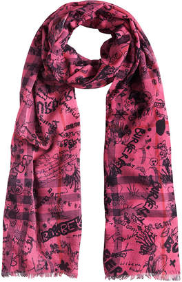 Burberry doodle print scarf