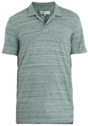 Orlebar Brown Felix Cotton Jersey Polo Shirt - Mens - Green