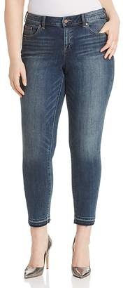 Vince Camuto Plus Cropped Released-Hem Jeans in Mid Vintage