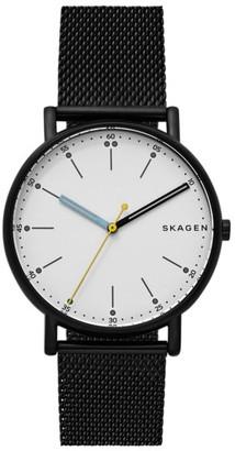 Men's Skagen Signatur Mesh Strap Watch, 40Mm $155 thestylecure.com