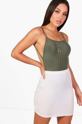 boohoo Backless Strappy Slinky Bodysuit