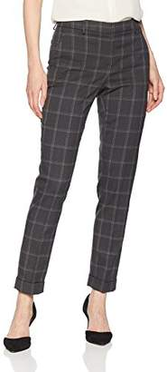 T Tahari Women's Quin Window Pane Plaid Suiting Pant
