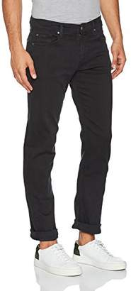 7 For All Mankind Men's Standard Straight Jeans, (Luxe Performance Plus Rinse Black 0cb), W32/L34 (Size: 32)