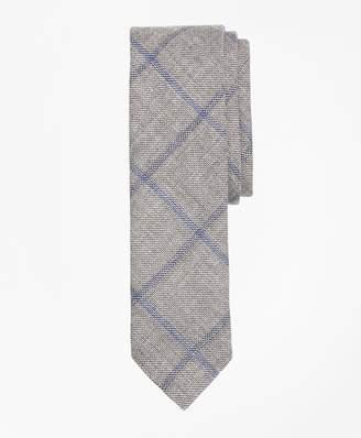 Brooks Brothers Windowpane Linen-Wool Sharkskin Tie