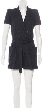 Band Of Outsiders Tailored Pinstripe Romper