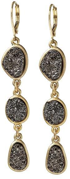 Sabine Faux Pyrite Drop Earrings
