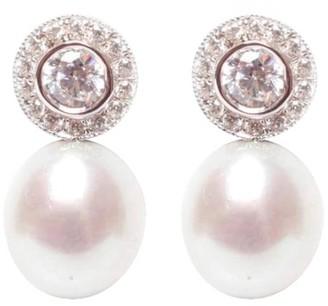 Ora Pearls Halo White Pearl Earrings