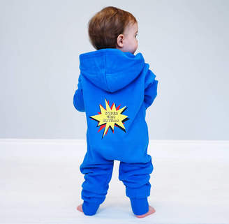 Sparks And Daughters Personalised Super Hero Children's Onesie