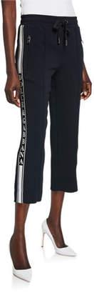Dolce & Gabbana Felpa Logo Banded Cropped Drawstring Jersey Sweatpants