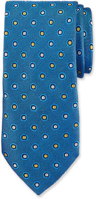 Duchamp Circle/Dot Pattern Silk Tie