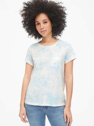 Gap Logo Tie-Dye Pocket T-Shirt