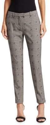 Altuzarra Henri Check Floral Skinny Pants