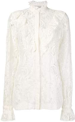 Stella McCartney lace-embroidered shirt