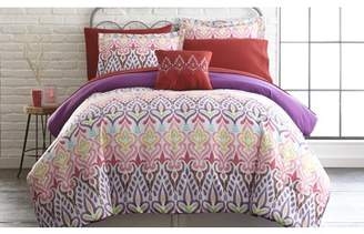 Fine Linens 8 Piece Printed Reversible Complete Bed Set Tribal Ikat - Queen