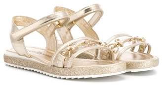 Cesare Paciotti Kids front metal detail sandals