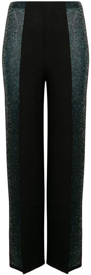 panel straight trousers