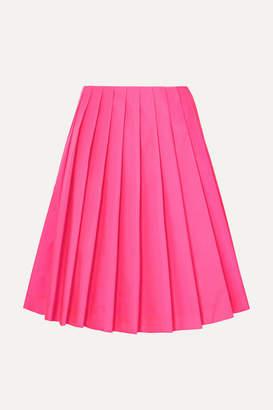 Prada Wrap-effect Pleated Shell Skirt - Pink