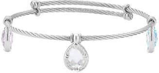 Alor Delatori by Delatori By Silver Gemstone Crystal Bangle