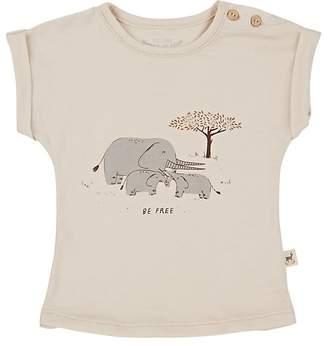 Red Caribou Infants' Elephant-Print Pima Cotton T-Shirt