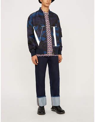Valentino Camouflage-print shell bomber jacket