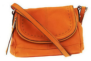B. MakowskyAs Is B. Makowsky Glove Leather Flap Top Cross- body Bag