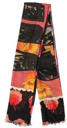 Stella McCartney Silk-Blend Floral Scarf