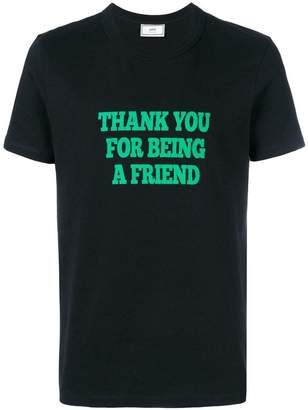 Ami Alexandre Mattiussi T-Shirt With Print Thank You For Being A Friend
