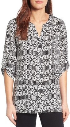 Women's Chaus Roll Sleeve Print Blouse $69 thestylecure.com