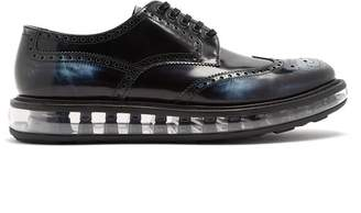 Prada Bubble Midsole Leather Brogues - Mens - Navy