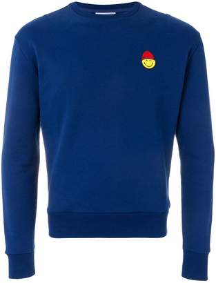 Ami Alexandre Mattiussi Crewneck Sweatshirt Smiley Patch