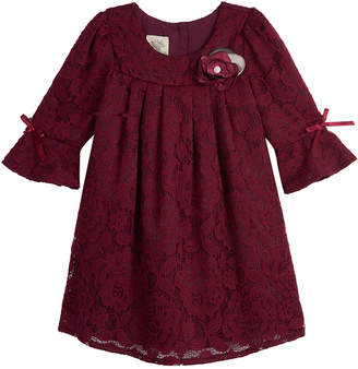 Laura Ashley Bell-Sleeve Lace Dress