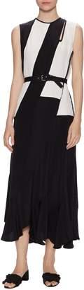 Derek Lam Women's Silk Asymmetrical Maxi Dress