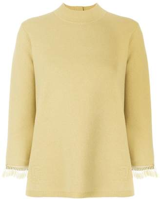 Marc Jacobs funnel neck beaded sweater