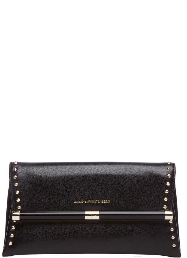 Diane von Furstenberg 440 Envelope Clutch in Black