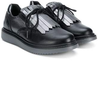 Geox Kids fringe lace-up shoes