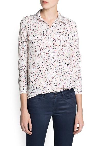 MANGO Outlet Star Print Shirt