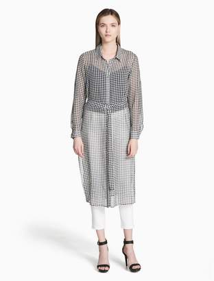 Calvin Klein gingham long tunic