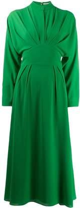 Emilia Wickstead pleated midi dress