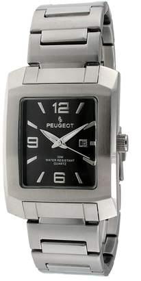 Peugeot Men's 1007GY Silver-Tone Bracelet Watch