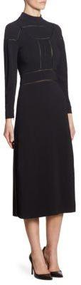 Burberry Open Knit Mockneck Dress