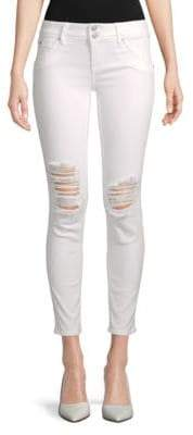 Hudson Distressed Skinny Ankle Jeans