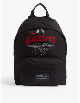 Givenchy Creatures motif nylon backpack