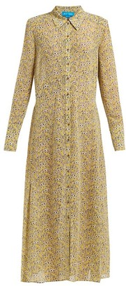MiH Jeans Maggie Floral Print Silk Dress - Womens - Yellow Print