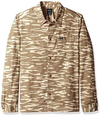 RVCA Men's Trenches Long Sleeve Woven Shirt