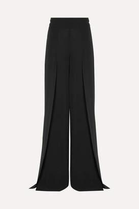 Akris Fellia Silk-georgette Wide-leg Pants - Black