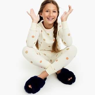 J.Crew Girls' pajama set in emoji print