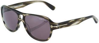 Tom Ford Plastic Aviator Sunglasses