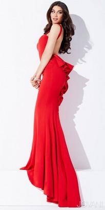 Jovani Open Back Ruffle Prom Dress $500 thestylecure.com
