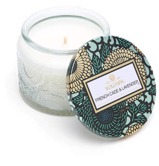 Voluspa French Cade & Lavender Small Glass Jar Candle Green
